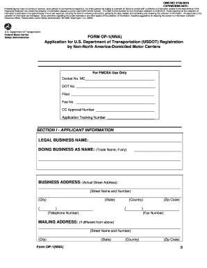 Motor carrier form mcs 150 form mcs 150 fillable motor for Motor carrier identification report