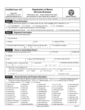 fincen form 114 pdf 2008 Form IRS FinCEN 107 Fill Online, Printable, Fillable, Blank ...