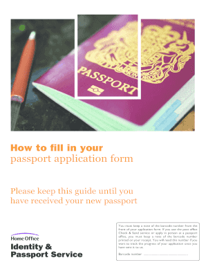How to fill in your passport application form - Gov.uk - direct gov