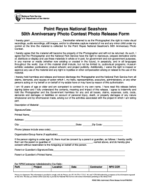 national park service photo release form