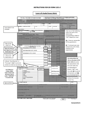 fillable online tricare instructions for dd form 1351 2