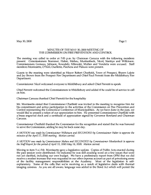 Approved Commission Meeting Minutes May 2000 - CT.gov - ct