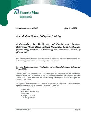 Fillable Online Announcement 05-05. Authorization for Verification ...