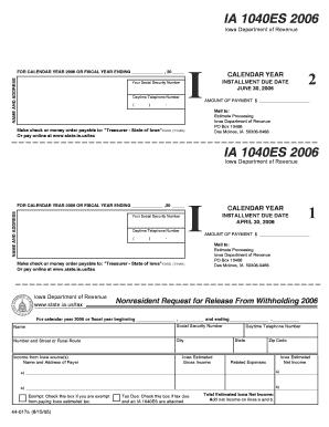 1040 es form estimated tax