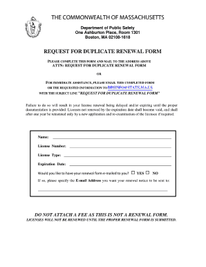 Massachusetts Renewal Form - Fill Online, Printable, Fillable ...