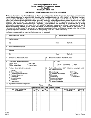 cl34 lab form fill online printable fillable blank pdffiller