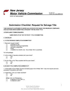 Edit print fill out download online business forms in word salvage title request checklist state of new jersey altavistaventures Gallery
