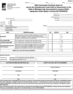 purchase agreement michigan form