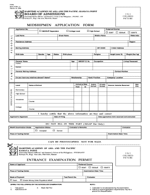 Maap Application Form - Fill Online, Printable, Fillable, Blank ...