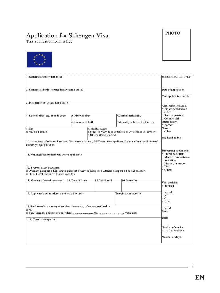 large Visa Application Form Belgium Emby on