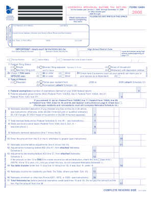 Fill In Format 1040n Nebraska State Income Tax Forms - Fill Online ...
