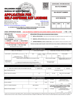16714821 Oklahoma Concealed Carry Application Form To Print Out on