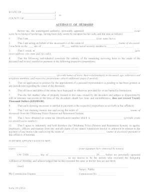 oklahoma legal heirship forms pdf files