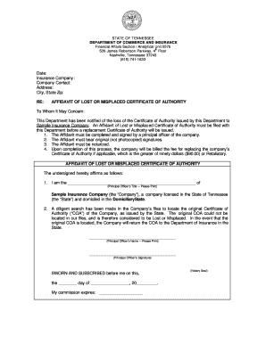Affidavit Of Loss Bir Authority To Print Sample