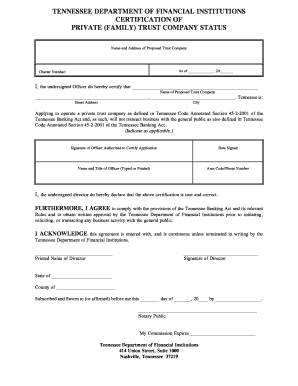 family trust tennessee form