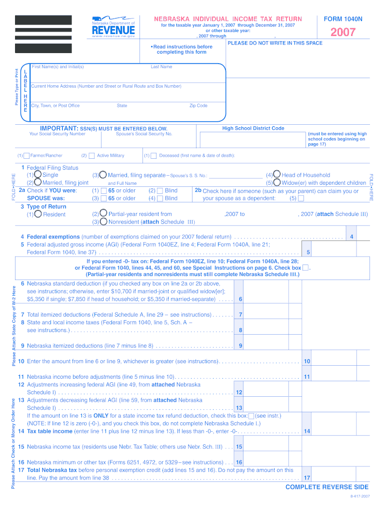 Form 1040n - Fill Online, Printable, Fillable, Blank | PDFfiller