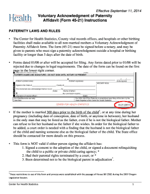 Oregon Form Paternity - Fill Online, Printable, Fillable, Blank ...