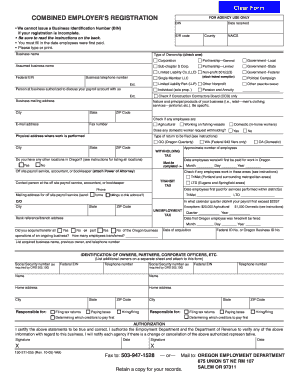 Combined Employer's Registration - oregon.gov