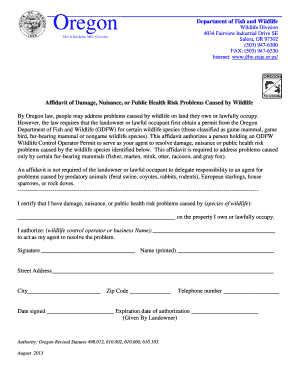 bill of sale form oregon department of fish and wildlife employment