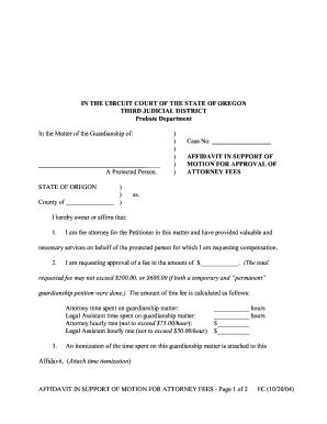 Affidavit of support form templates fillable printable samples affidavit in support of attorney fees form altavistaventures Gallery