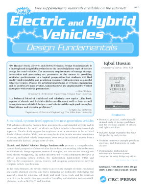 electric and hybrid vehicles design fundamentals second edition pdf form