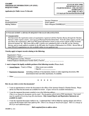 foil request new york attorney general form
