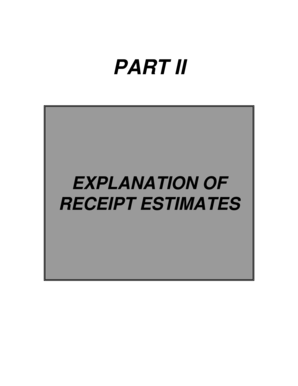 Part II Explanation of Receipt Estimates - Division of the Budget - budget ny