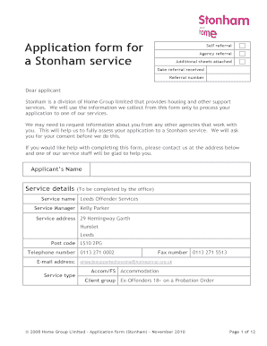 Housing application form templates fillable printable for Housing application template