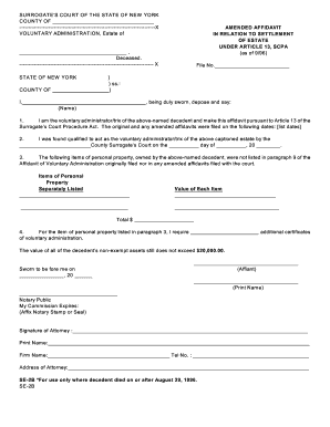 california small estate affidavit form 2016 Templates - Fillable ...
