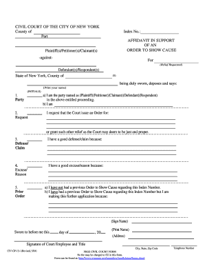 Order To Show Cause Forms - Fill Online, Printable, Fillable ...
