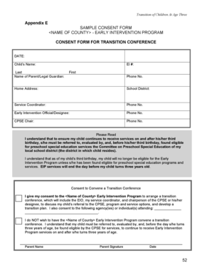 Sample Consent Form for Transition Conference - health ny