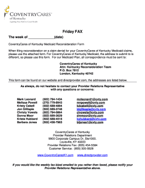 Coventry Reconsideration Form - Fill Online, Printable, Fillable ...