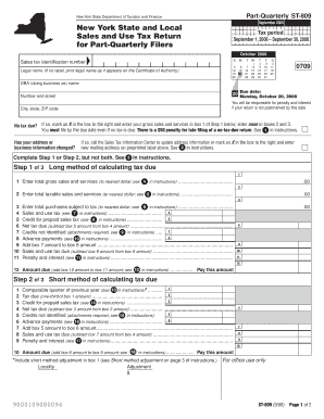 Fillable Online tax ny Form ST-809:9/08: New York State and Local ...