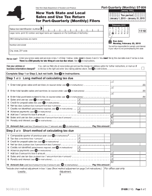 What Is The Sales Tax In New York >> Fillable Quarterly Sales Tax Due Dates Forms And Document Templates