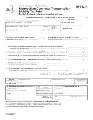 Mta 6 Form - Fill Online, Printable, Fillable, Blank   PDFfiller