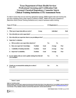 Intern Assessment Form Fill Online Printable Fillable