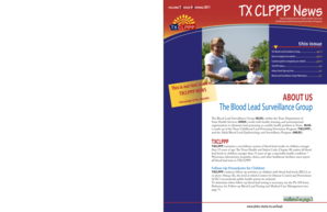 TX CLPPP News VOLUME 7 ISSUE 4 SPRING 2011 Texas Department of State Health Services Childhood Lead Poisoning Prevention Program www - dshs state tx