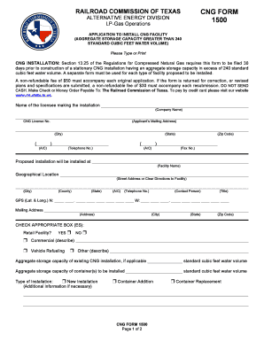 Fillable Online rrc state tx CNG FORM 1500 - The Railroad ...