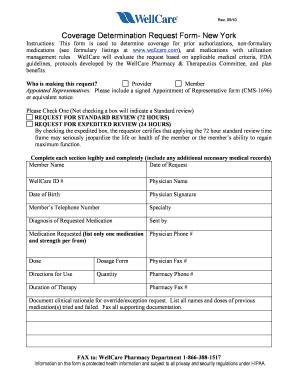 Wellcare Newyork Medicaid Der Form - Fill Online, Printable ...