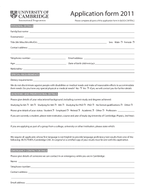 university of sunderland application form pdf