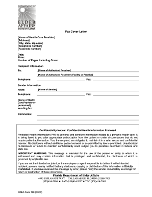 Health Information Fax Cover Sheet Doc