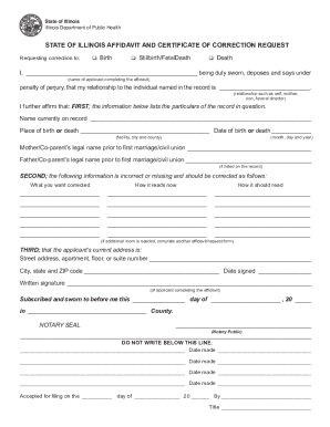 Affidavit to correct a birth certificate forms and templates il affidavit form yadclub Gallery