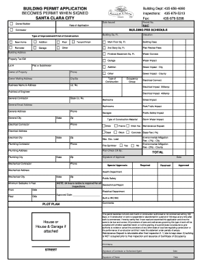 Bill Of Sale Form City Of Santa Clara Employment