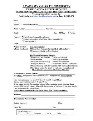 rate this form - Letter Request Form