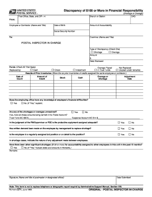 Ps Form 1199a Fill Online Printable Fillable Blank