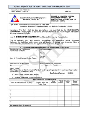 Construction Safety And Health Program Form - Fill Online ...