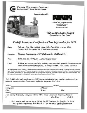 Fillable Forklift Certificate Online - Fill Online, Printable ...