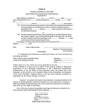 esic form 22 filled sample fill online printable fillable blank