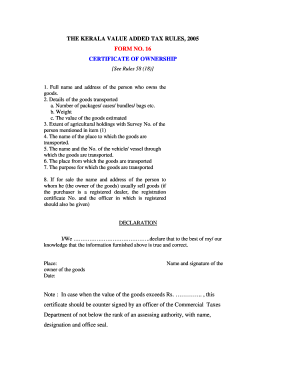 16 Certificate Ownership Form - Fill Online, Printable, Fillable ...