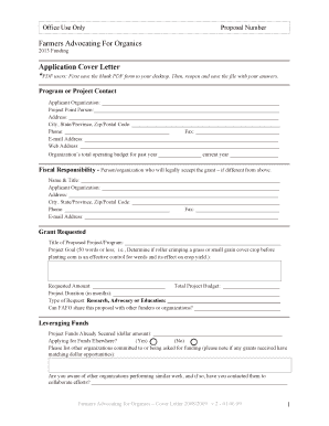 organic valley cover letter form